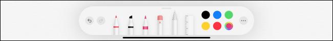 Outils de crayon dans l'application Notes