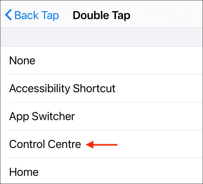 Choisissez une action Double Tap