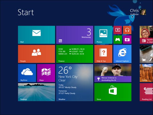 écran de démarrage windows 8.1