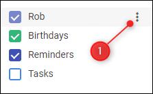 Les options du calendrier
