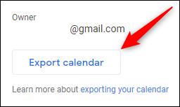 """le """"Calendrier d'exportation"""" bouton"""