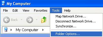 options du dossier d'outils