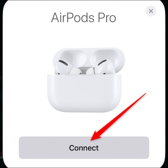 Apple AirPods Pro Pair avec iPhone Tap Connect
