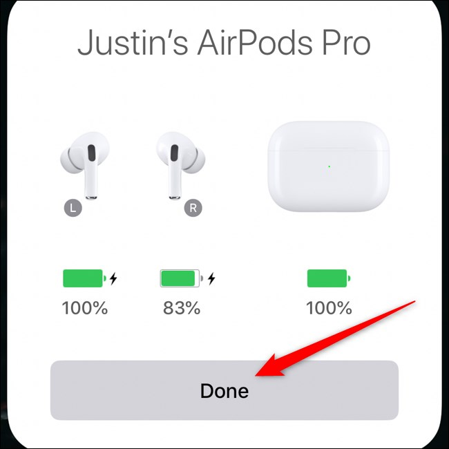 Apple AirPods Pro Pair avec iPhone Tap Done