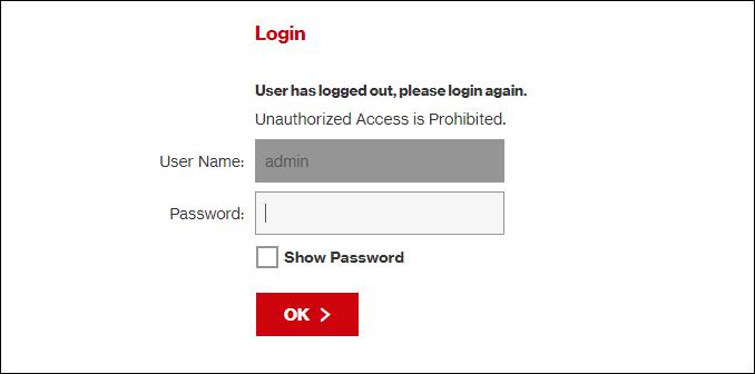 """Un routeur """"S'identifier"""" page."""