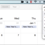 Comment obtenir un calendrier contextuel de type Windows sous OS X