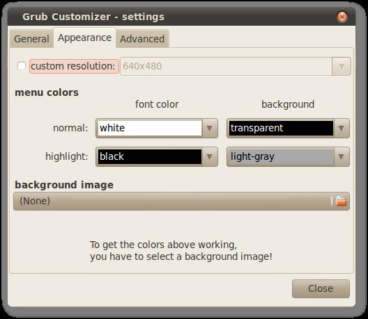 Grub Customizer - settings_006