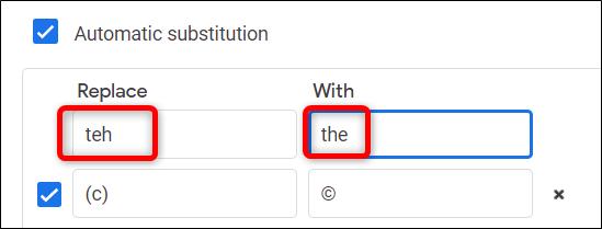 Vous pouvez utiliser cette fonction comme correction automatique dans votre document pour remplacer automatiquement les mots mal orthographiés.