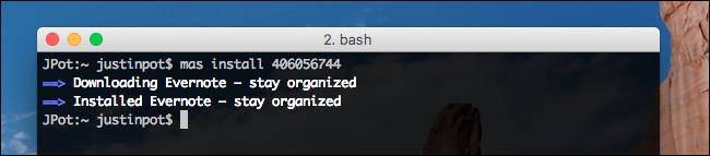 installé sur mac-evernote