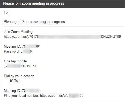 Contenu de l'e-mail pour demander à quelqu'un de rejoindre une réunion