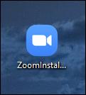 Icône du programme d'installation de zoom