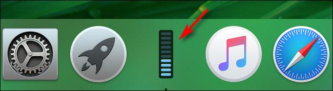 Icône du Dock d'utilisation du processeur du moniteur d'activité Mac