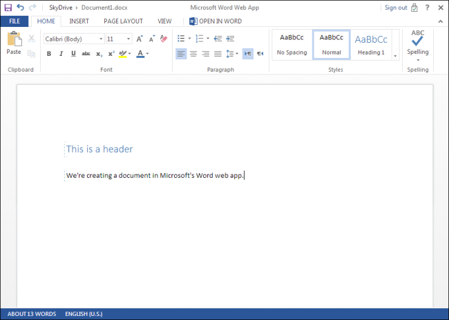 application web microsoft word
