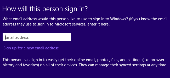 connectez-vous à windows avec un compte microsoft