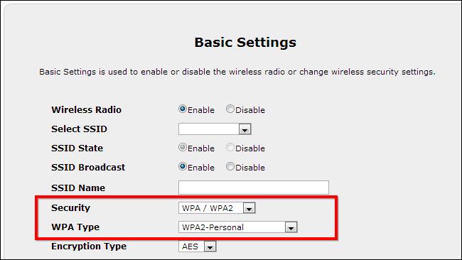 chiffrement routeur-wpa