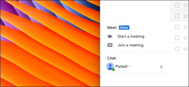 L'utilisateur supprime la section Google Meet dans la barre latérale de Gmail