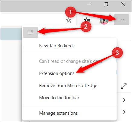 L'icône de l'extension se trouve également dans le menu.