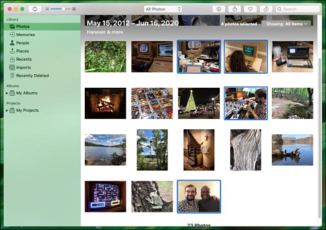 Sélectionnez plusieurs photos à imprimer dans Photos sur Mac