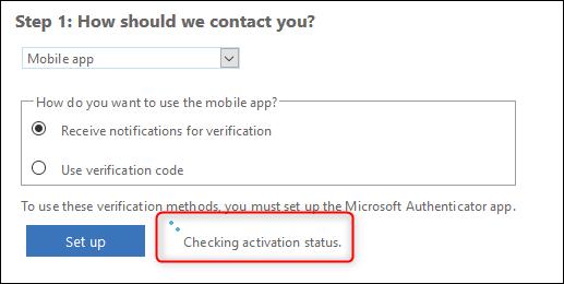 """le """"Vérification de l'état d'activation"""" message"""