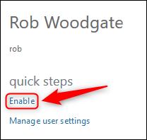 L'option Activer