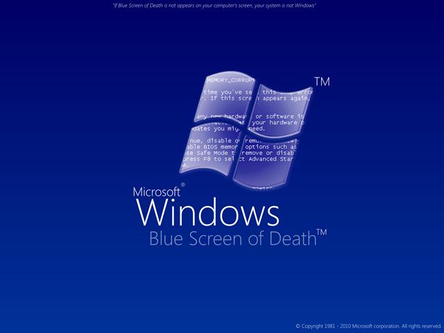 Écran bleu de la mort Windows