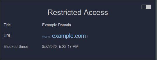 """le """"Accès restreint"""" message dans Firefox."""