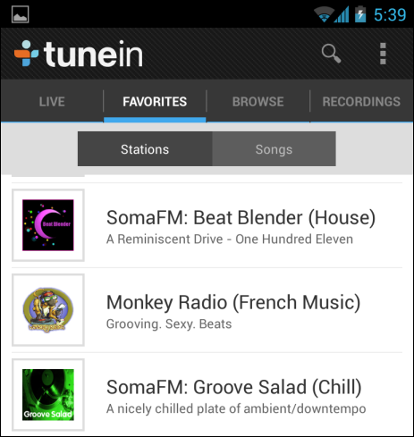 tunein-radio-sur-android