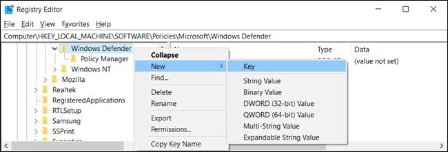 """Si vous ne voyez pas le """"Analyse"""" clé, cliquez avec le bouton droit de la souris, sélectionnez Nouveau> Clé.» width=»650″ height=»221″ onload=»pagespeed.lazyLoadImages.loadIfVisibleAndMaybeBeacon(this);» onerror=»this.onerror=null;pagespeed.lazyLoadImages.loadIfVisibleAndMaybeBeacon(this);»/></p> <p>Cliquez avec le bouton droit de la souris sur la touche «Scan» (dossier) dans le volet gauche et sélectionnez Nouveau> Valeur DWORD (32 bits).</p> <p><img class="""