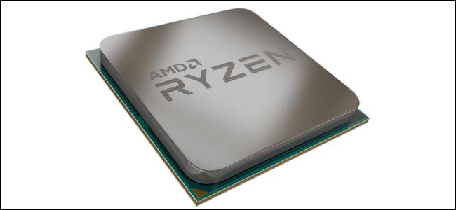Un rendu d'un processeur AMD Ryzen.