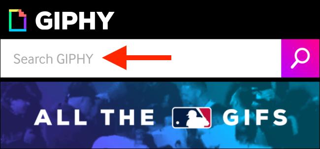 Appuyez pour rechercher un GIF sur GIPHY