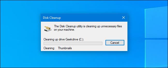 Le processus de nettoyage de disque dans Windows 10