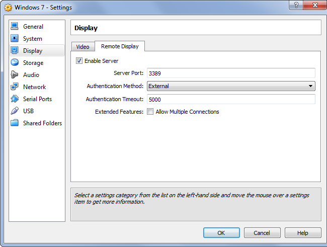 virtualbox-enable-remote-display