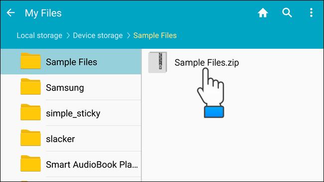 18_touching_zip_file_samsung