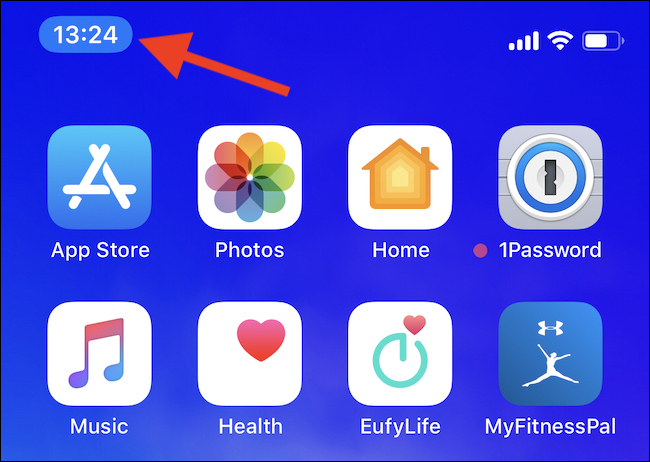L'horloge bleue confirme l'accès à l'emplacement