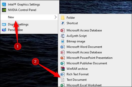 Ouvrez un nouveau fichier texte