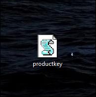 icône de clé de produit