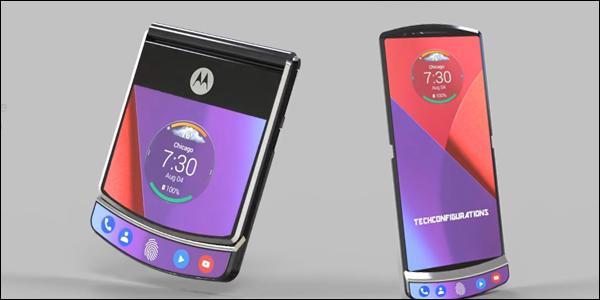 Concept art du téléphone pliable Motorola RAZR 4