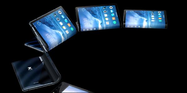 Art conceptuel du Royole Flexpai se dépliant dans une tablette