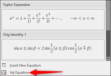 Équation d'encre