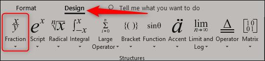 insérer une fraction