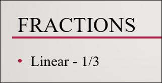 structure de fraction linéaire typée