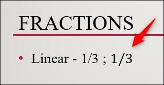 structure de fraction linéaire insérée
