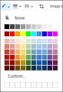 couleurs de bordure