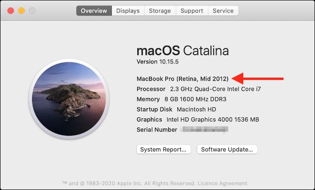 À propos de ce Mac sous macOS