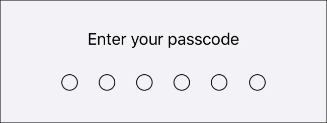 Saisissez votre mot de passe sur iPhone ou iPad.