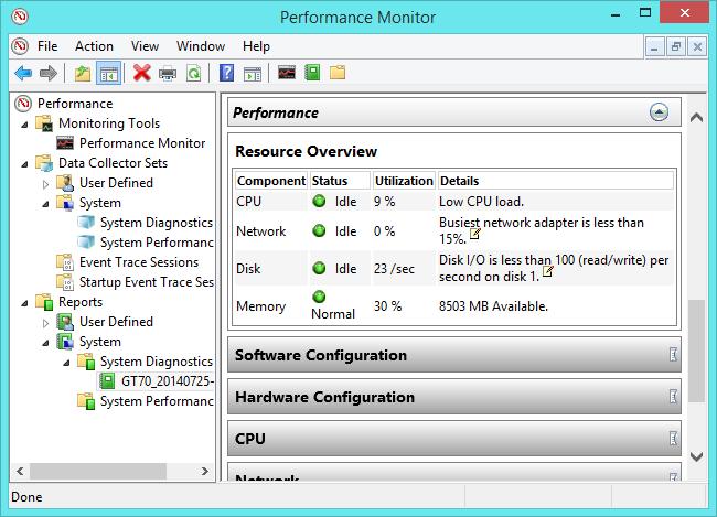 outil de surveillance des performances windows 8.1