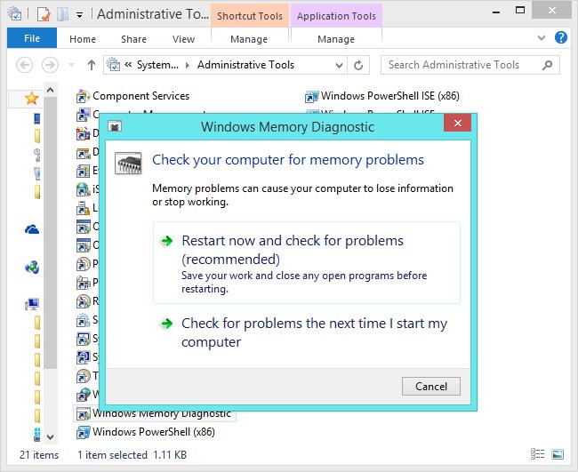 outil-de-diagnostic-de-mémoire-windows