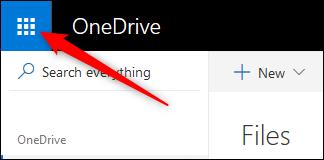 cliquez sur le bouton avec neuf points pour accéder à une liste d'applications