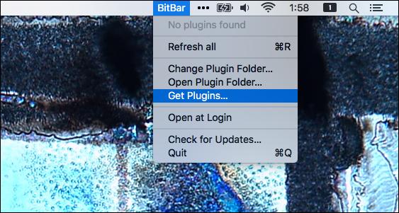 bitbar-première exécution
