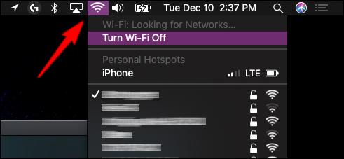 Vérification de la connexion réseau MacOS